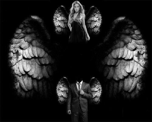 Photoshop шаблон - Ангельские крылья