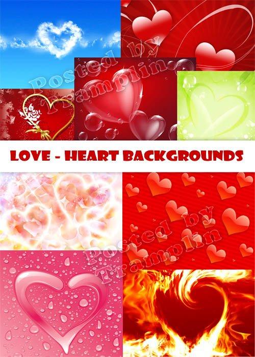 Фоны и текстуры с сердечками