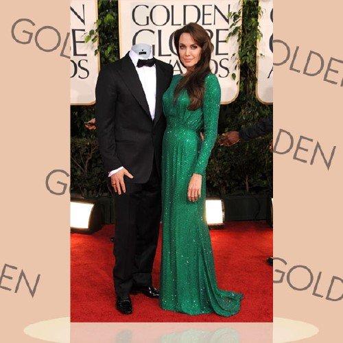 PSD шаблон для мужчин - В обнимку с Анджелиной Джоли