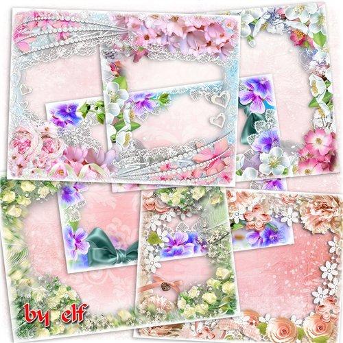 Набор цветочных рамок для фото - С прекрасным праздником весны