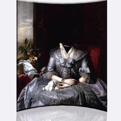 Шаблон для Photoshop - Женское стародавнее платье барышни