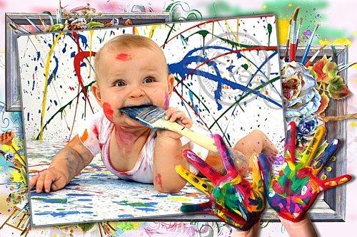 Детская рамка для фотографий - Мой маленький художник