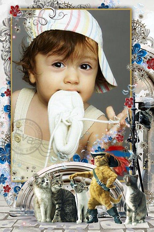 Детская рамка для фотошопа - Мой герой