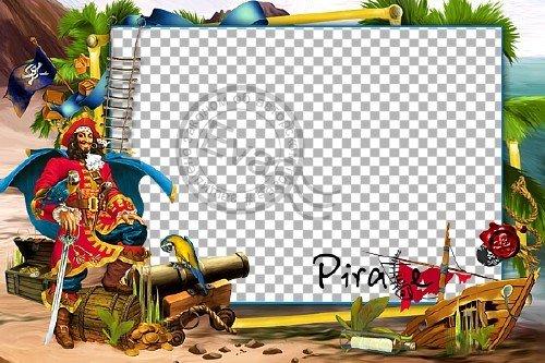 Детская рамка для фотошопа - Веселый пират
