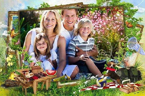 Рамочка для фотошоп - На пикник всей семьей