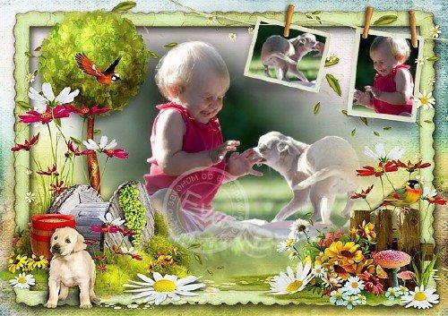 Детская рамочка для фотографий - Наше счастливое детство