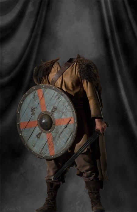Костюм викинга - шаблон для фш