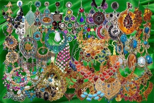 Клипарт Драгоценные украшения восточных красавиц