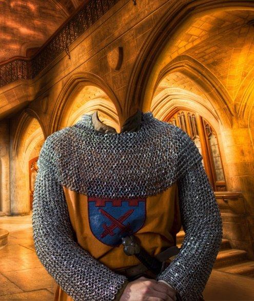 Рыцарь в кольчуге - шаблон для ФШ
