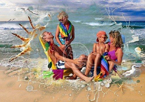 Рамка для фотографий - Райский отдых на пляже