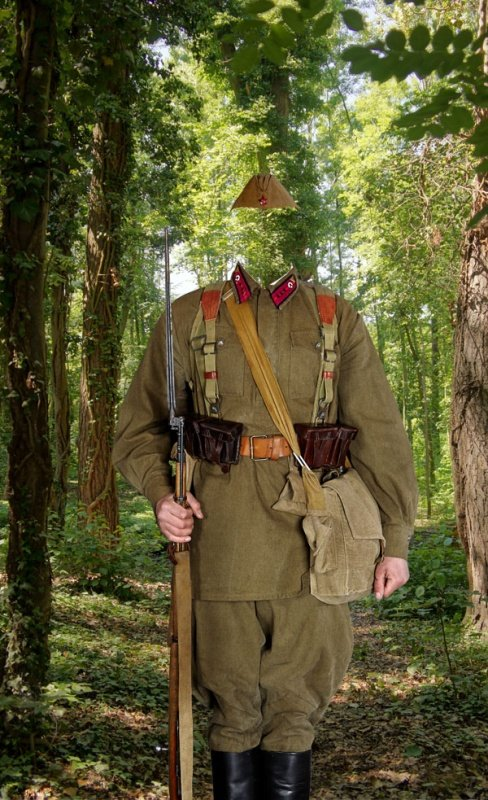 Форма советского солдата шаблон для фотошопа