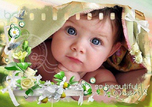 Детская рамка для фотографий - Для счастливых моментов