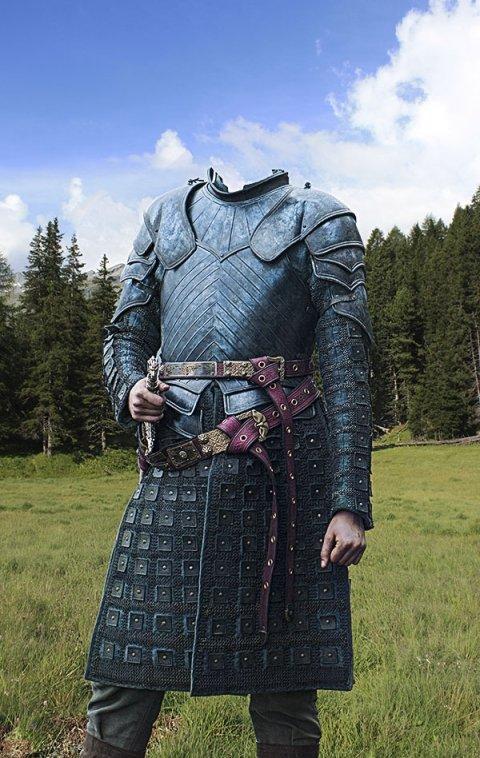 старинный костюм рыцаря для фотошопа