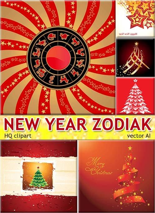 Дизайнерский яркий знаки зодиака - креативный плакат (TIFF for print)