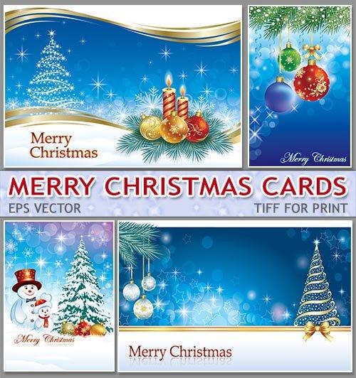 Новогодние с шариками  постеры   New Years winter cards (А4 для печати)