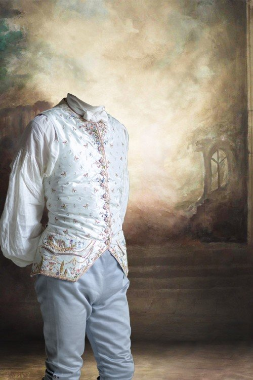 мужской старинный костюм для фотошопа
