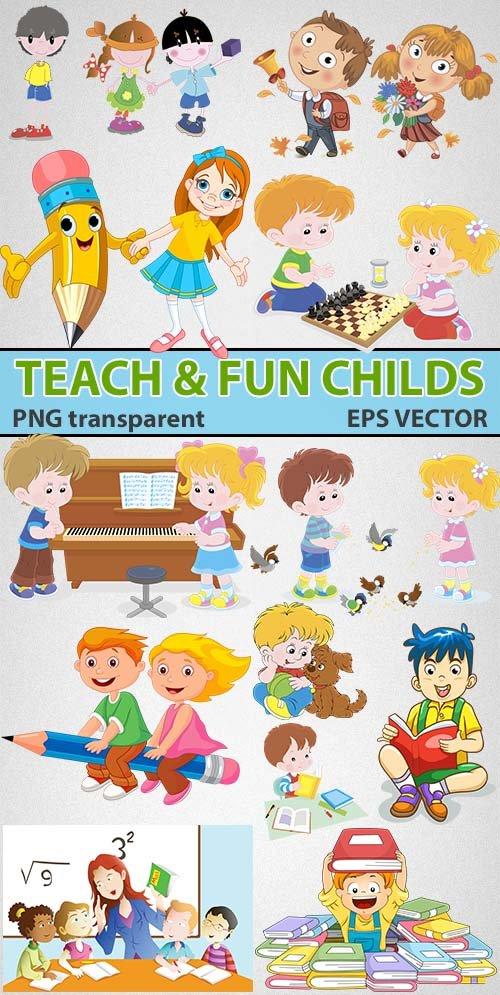 Занимательное развитие детишек в книгах (png & tiff)