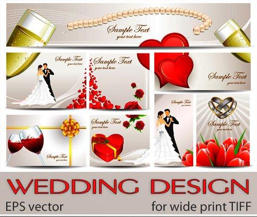 Оформление свадебного сердечки и цветы (for print)