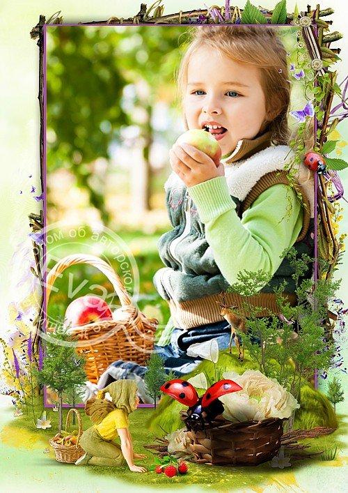 Детская рамочка для фотографий - Загадочный сказочный лес