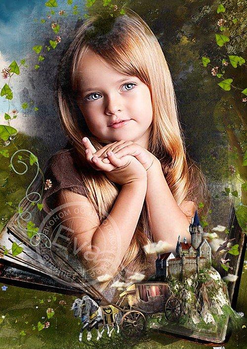 Детская фоторамка - Старая добрая сказка