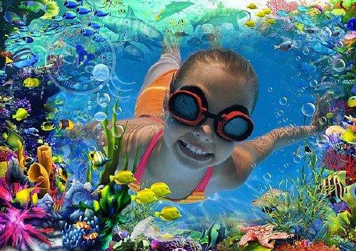 Рамочка для фотографий - Мой яркий подводный мир
