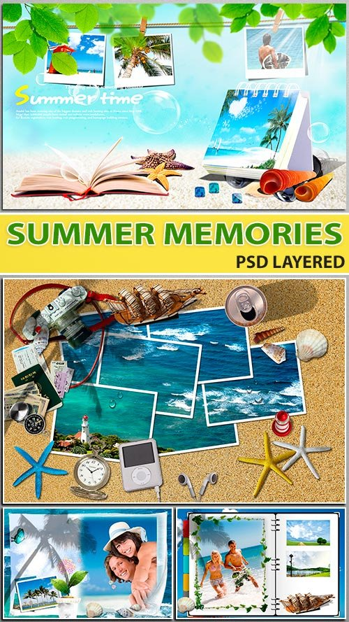 Яркий экзотический тур - фотографии на память (PSD layered)