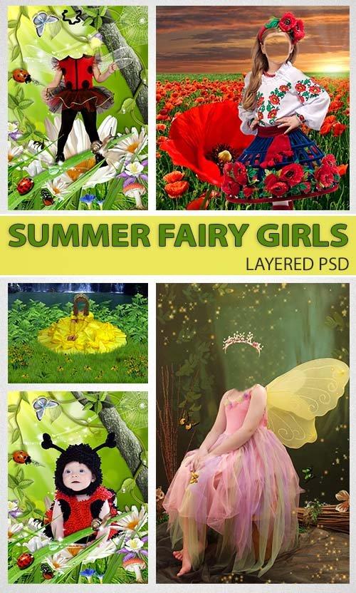 Летние наряды для маленьких - фея с крыльями (psd costumes)