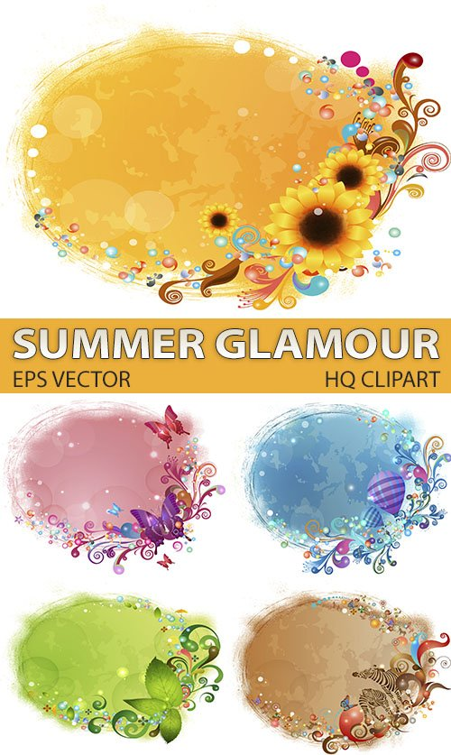 Для дизайна солнечные рамки - синие воздушные шары (EPS vector)