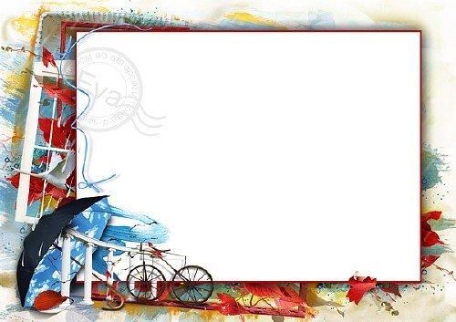 Рамочка для фотошоп - Приходит осень