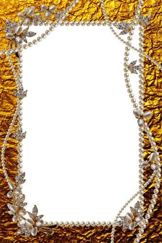 Рамка Золото и жемчуг для королевы