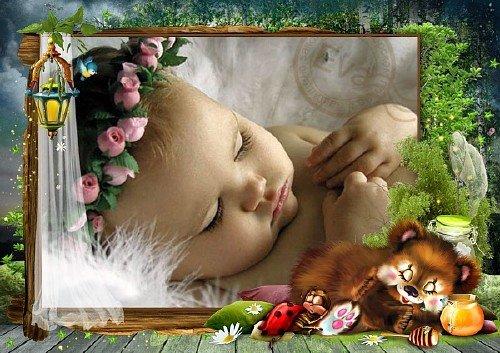 Детская фоторамка - Сладких снов желаю