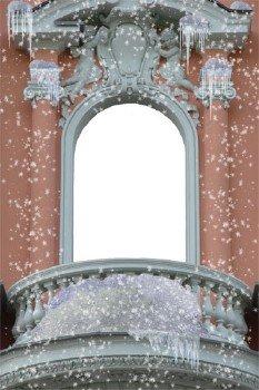 Рамка Портрет в зимнем окне
