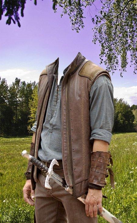 Исторический мужской костюм для фотошопа