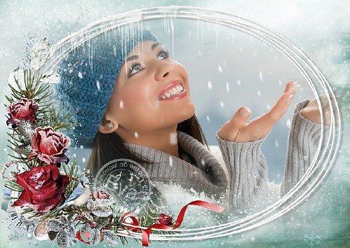 Рамка для фотографий - Зимний букет
