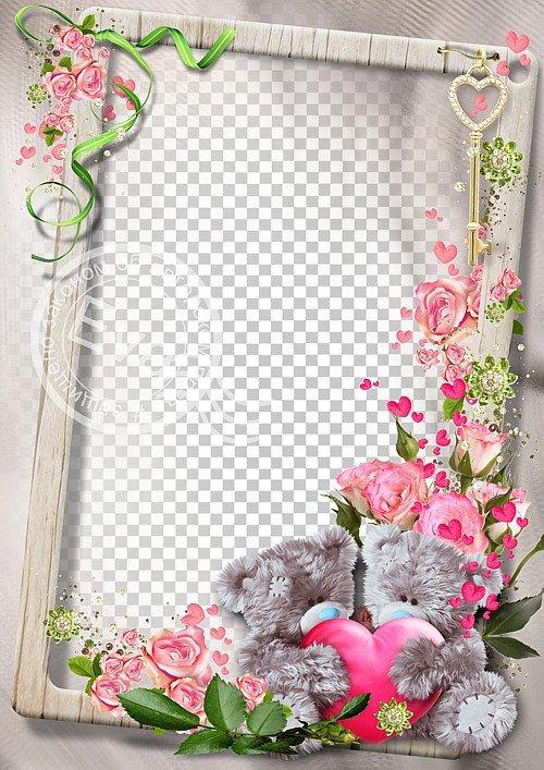 Рамочка для фотошоп - Любимые мишки Тедди
