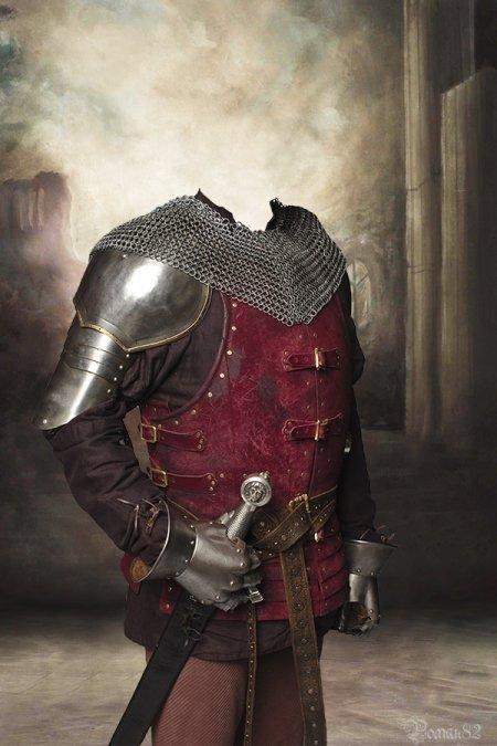 Рыцарь с мечом костюм для Photoshop