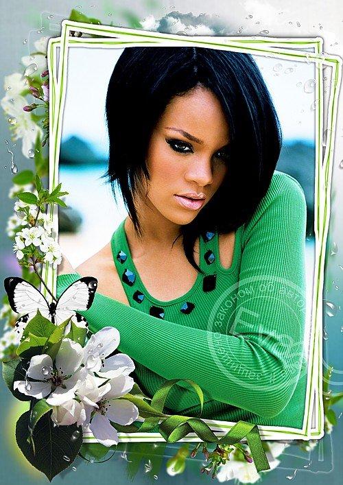 Рамка для фотошоп - Весенний ароматный первоцвет