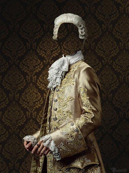 старинный костюм фотошаблон для Photoshop