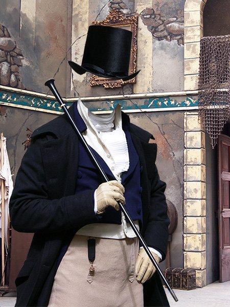Мужской старинный костюм шаблон для фотошопа