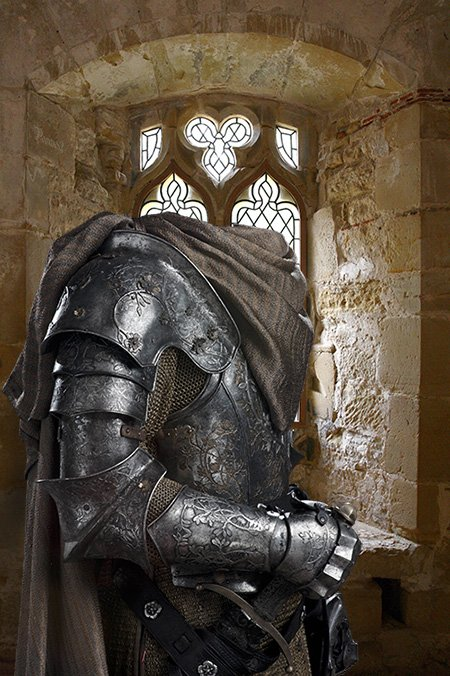 Рыцарь в доспехах шаблон для фотошоп